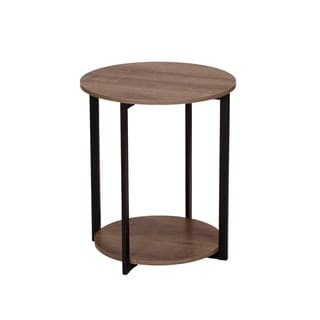 Link to Carbon Loft Mullis Ashwood Round Double Tier End Table Similar Items in Living Room Furniture