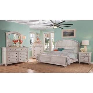 Greyson Living Harbor Point Antique Cobblestone White Bedroom Set