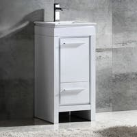 Fresca Allier 16-inch White Modern Bathroom Cabinet