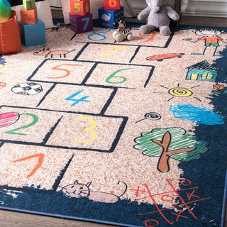 nuLoom Playtime Kids' Hopscotch Drawing Multicolored Area Rug (5' x 7'5)