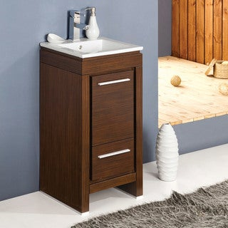 Fresca Allier 16-inch Wenge Brown Modern Bathroom Cabinet