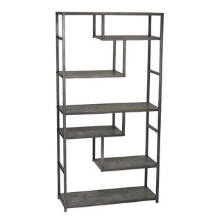 Household Essentials Faux Slate Tall Open Wall Unit Bookcase