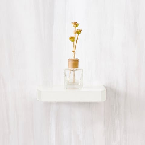 "Eco 10"" Uniq Floating Decorative Wall Shelf, White LIFETIME GUARANTEE"