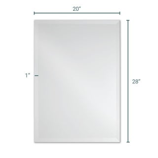 Frameless Rectangle Wall Mirror by The Better Bevel (4 options available)