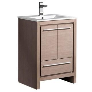 Fresca Allier 24-inch Grey Oak Modern Bathroom Cabinet with Sink