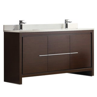 wenge bathroom cabinets fresca allier 60 inch wenge brown modern sink 15035