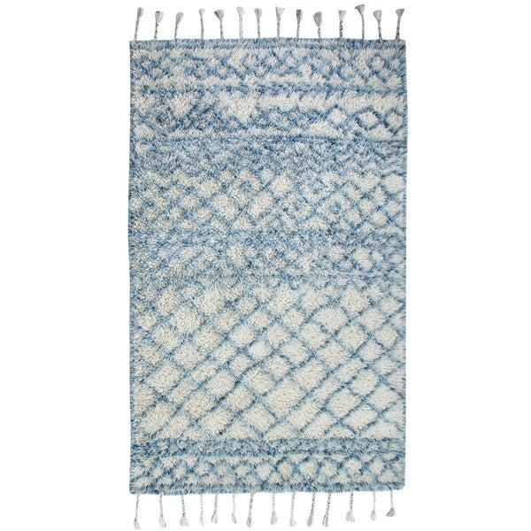 Ella Fringe Blue Area Rug - 8' x10'