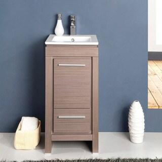 Fresca Allier 16-inch Grey Oak Modern Bathroom Cabinet