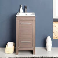 Fresca Allier 16-inch Grey Oak Modern Bathroom Cabinet