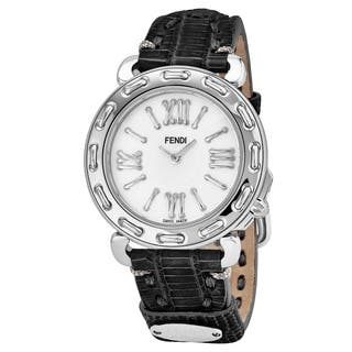 Fendi Women's F8000345H0.TS01 'Selleria' Mother of Pearl Dial Stainless Steel Swiss Quartz Watch|https://ak1.ostkcdn.com/images/products/17664001/P23874335.jpg?impolicy=medium