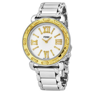 Fendi Women's F8001345H0.BR86 'Selleria' Mother of Pearl Two Tone Stainless Steel Swiss Quartz Watch