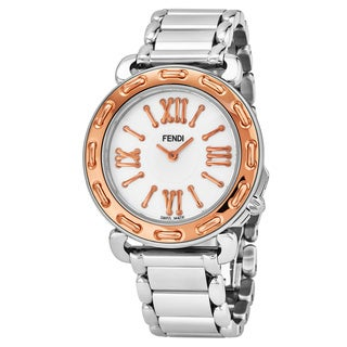 Fendi Women's F8002345H0.BR86 'Selleria' Mother of Pearl Dial Two Tone Stainless Steel Swiss Quartz Watch