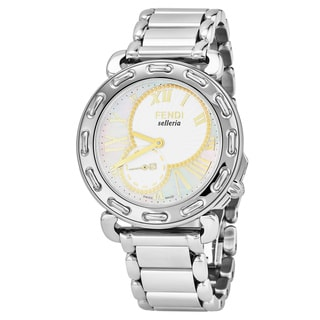 Fendi Women's F81234H.BR8653 'Selleria' Mother of Pearl Dial Stainless Steel Swiss Quartz Watch