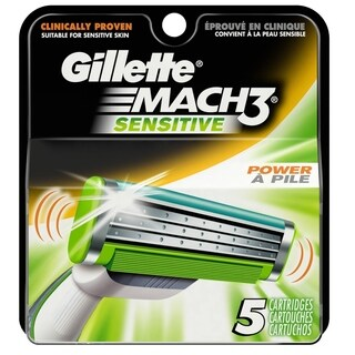 Gillette Mach3 Sensitive 5ct Refill Blades