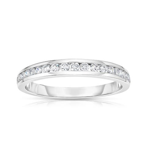 Noray Designs 14K White Gold Diamond (0.30 Ct, SI2-I1 Clarity, G-H Color) Channel Wedding Band - White G-H