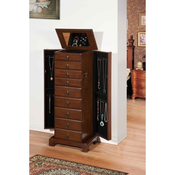 Nathan Direct Brown Wooden 8 Drawer Large Bedroom Jewlery Armoire