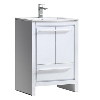 Fresca Allier 24-inch White Modern Bathroom Cabinet with Sink