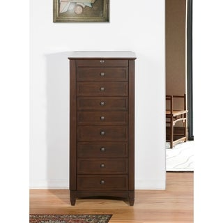 Nathan Direct Chestnut 9-drawer Luxury Bedroom Jewlery Armoire with Cushions