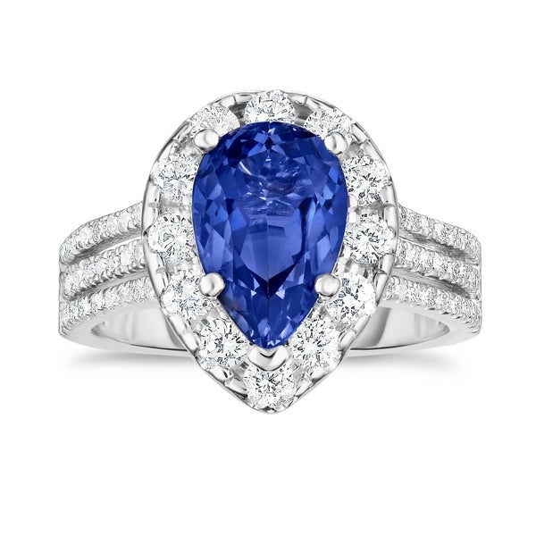 Noray Designs 14K White Gold Tanzanite & Diamond (1.50 Ct, G-H Color, SI2-I1 Clarity) Engagement Ring - Blue. Opens flyout.