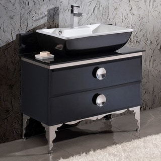 Fresca Moselle 36-inch Modern Glass Bathroom Cabinet