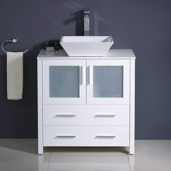 30 Inch White Modern Bathroom Cabinet