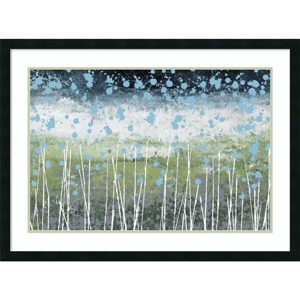 Framed Art Print 'Aqua Splash' by Liz Nichtberger 41 x 30-inch