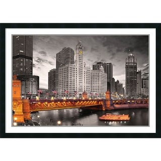 Framed Art Print 'Chicago River' by Philip Kendricks 42 x 30-inch