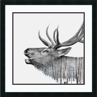 Framed Art Print 'Deer' by Clean Nature 27 x 27-inch