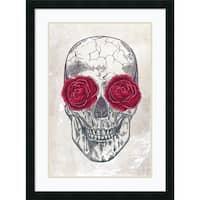 Framed Art Print 'Skull & Roses' by Rachel Caldwell 23 x 31-inch