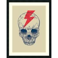 Framed Art Print 'Skull Bolt' by Rachel Caldwell 27 x 35-inch