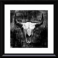 Framed Art Print 'Black Cowskull' by Graphinc 24 x 24-inch
