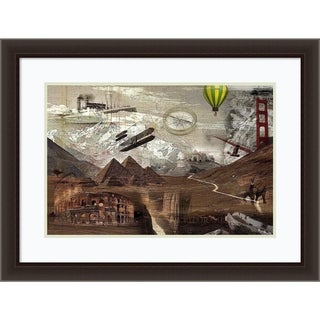 Framed Art Print 'World Travel' by Graphinc 34 x 26-inch