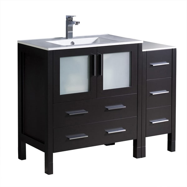 Shop Fresca Torino 42 Quot Espresso Modern Bathroom Cabinets W