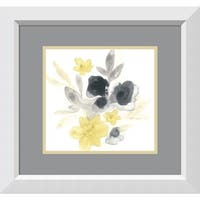 Framed Art Print 'Citron Bouquet I' by June Vess 22 x 22-inch