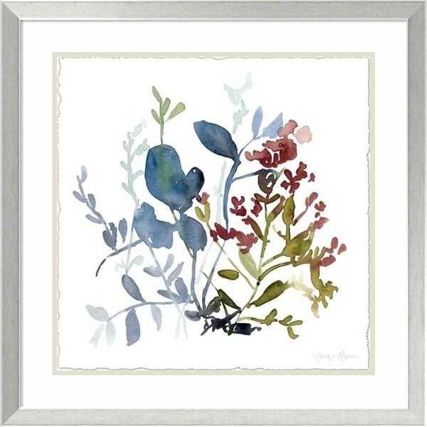 Framed Art Print 'Bloom Array I' by Jennifer Goldberger 27 x 27-inch