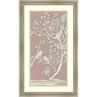 Framed Art Print 'Sweet Chinoiserie I' by June Erica Vess 17 x 28-inch