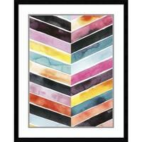 Framed Art Print 'Vivid Watercolor Chevron II' by Grace Popp 24 x 30-inch