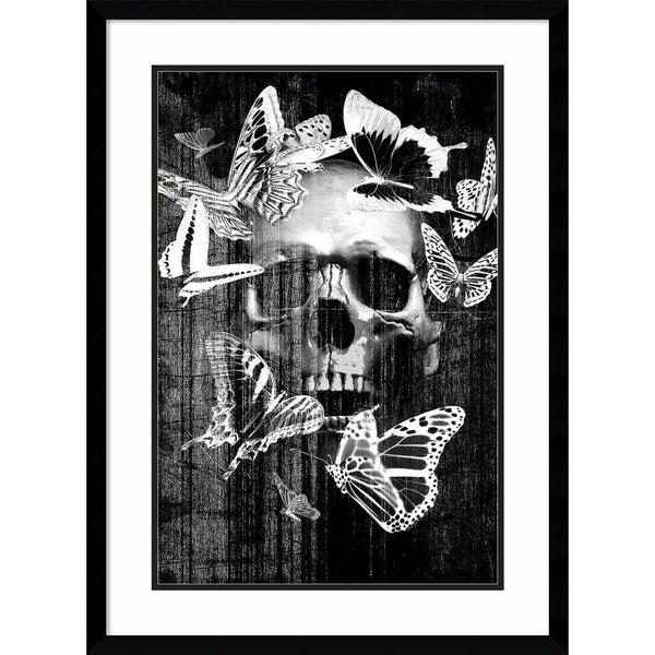 Framed Art Print 'Skull Butterfly Crown' by Graphinc 22 x 30-inch