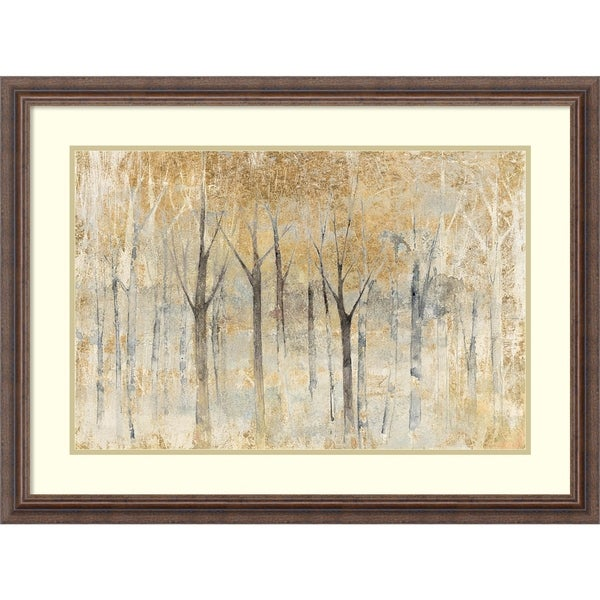 Framed Art Print \'Seasons End Gold\' by Avery Tillmon 32 x 24-inch ...