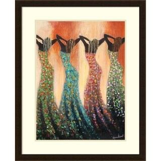 Framed Art Print 'Dance of the Summer Solstice' by Monica Stewart 26 x 32-inch