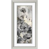Framed Art Print 'Crystal Raindrops Panel II' by Silvia Vassileva 21 x 39-inch