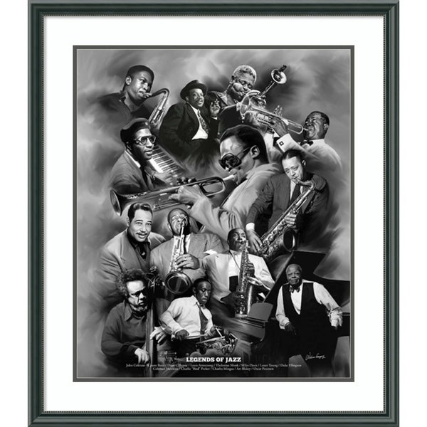 Framed Art Print 'Legends of Jazz' by Wishum Gregory 27 x 31-inch