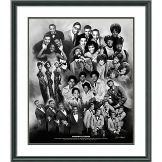 Framed Art Print 'Motown Legends' by Wishum Gregory 27 x 31-inch