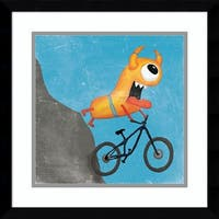 Framed Art Print 'Xtreme Monsters I' by Sarah Adams 17 x 17-inch