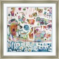 Framed Art Print 'Abstract Marina I' by Karen Fields 26 x 26-inch