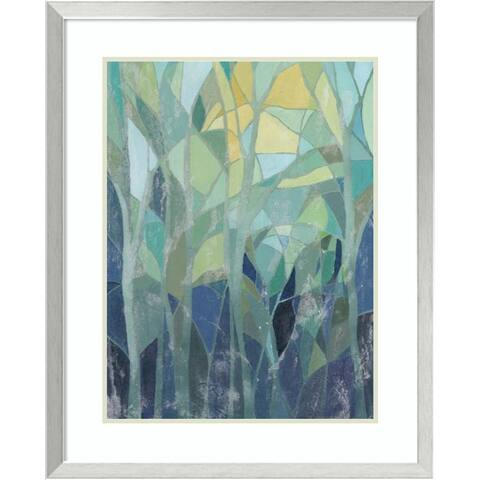 Framed Art Print 'Stained Glass Forest I' by Grace Popp 26 x 32-inch