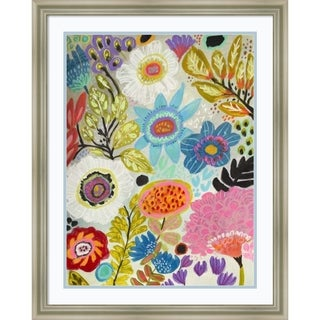 Framed Art Print 'Secret Garden Floral I' by Karen Fields 24 x 30-inch