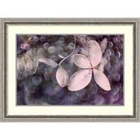 Framed Art Print 'Purple Hydrangea' by Judy Stalus 36 x 26-inch