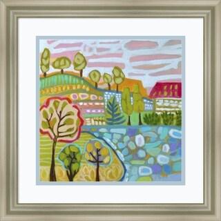 Framed Art Print 'Tree Farm' by Karen Fields 18 x 18-inch