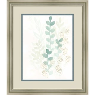 Framed Art Print 'Sprout Flowers I' by June Vess 19 x 23-inch